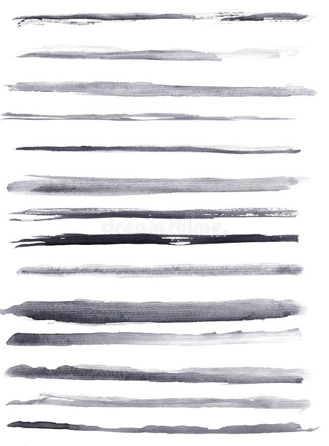 Akwareli linie royalty ilustracja