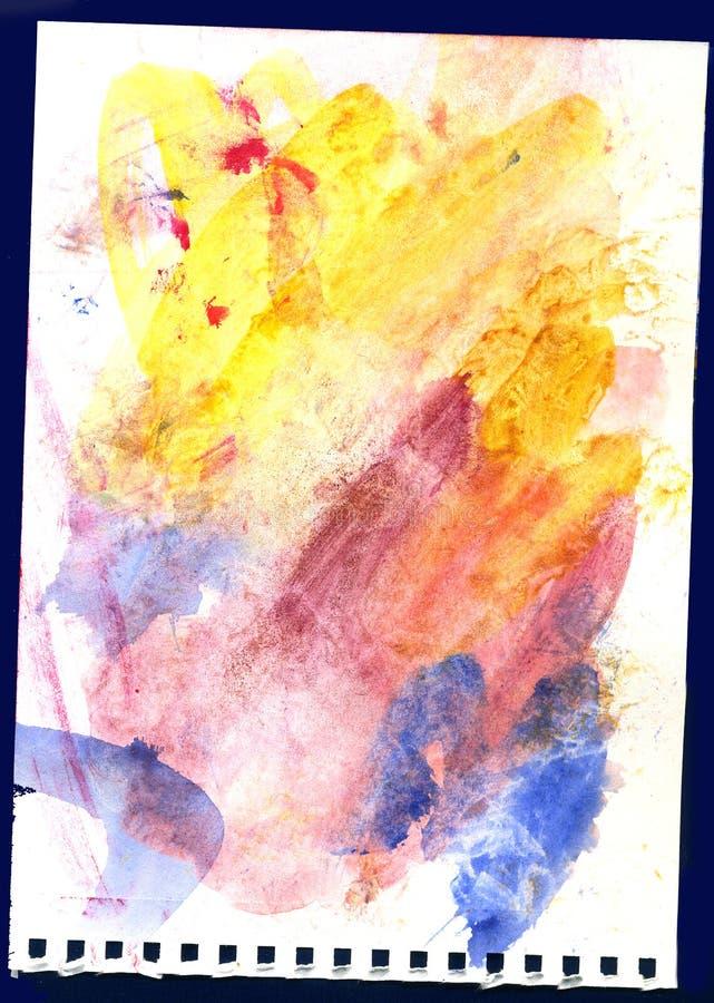 Akwareli palety piękny retro jaskrawy kolorowy tło ilustracja wektor