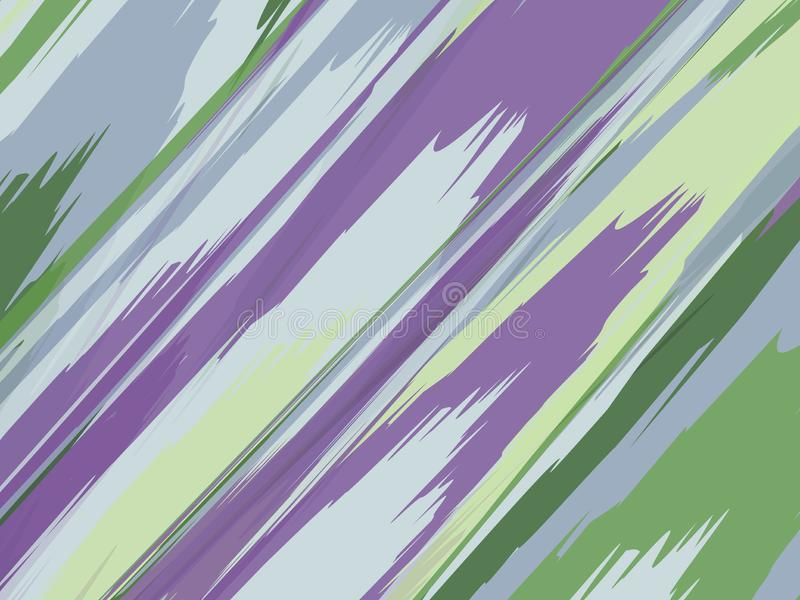 Akwareli pasiasty tło Lampasy Deseniują z ręki malującymi szczotkarskimi uderzeniami Abstrakcjonistyczny kolorowy kreskowy tło Ko royalty ilustracja