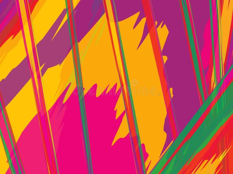Akwareli pasiasty tło Lampasy Deseniują z ręki malującymi szczotkarskimi uderzeniami Abstrakcjonistyczny kolorowy kreskowy tło Ko ilustracji