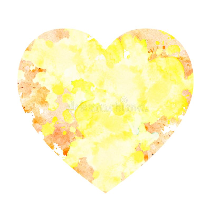 Akwareli plama w formie serca royalty ilustracja
