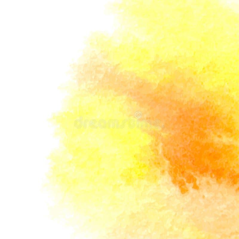 Akwareli pomarańcze tło ilustracji