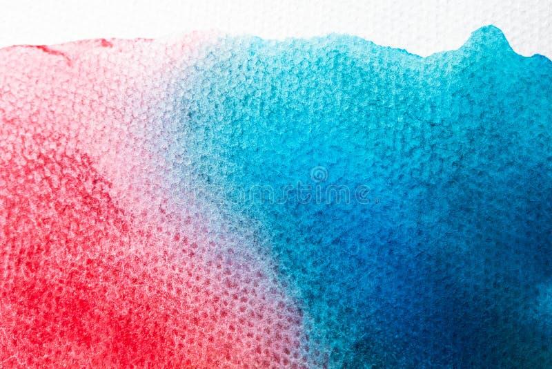 Akwareli sztuki ręki farba na białym akwareli tekstury tle zdjęcie stock