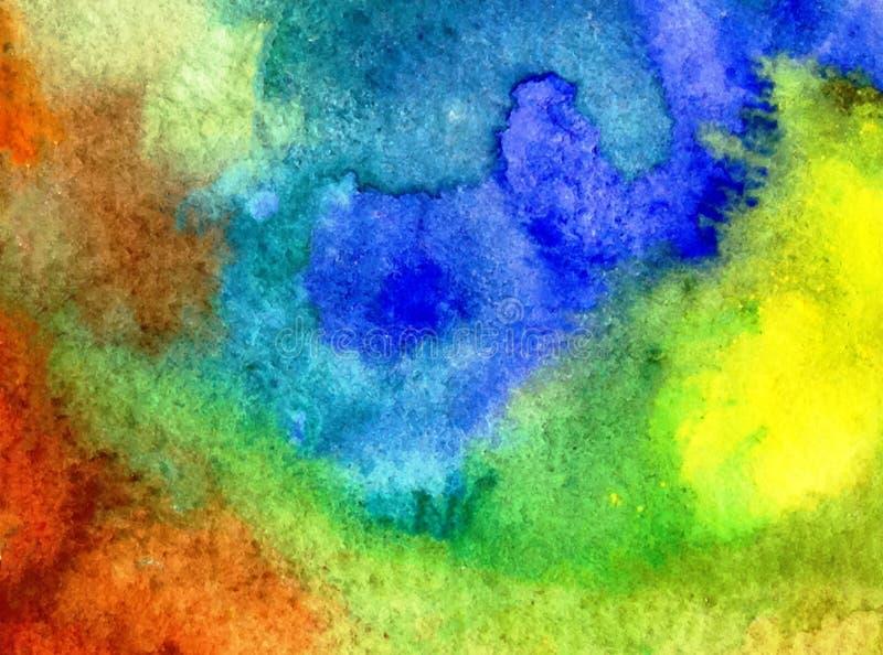 Akwareli sztuki tła abstrakcjonistyczny kolorowy textured fotografia royalty free