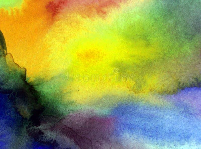 Akwareli sztuki tła abstrakt zamazywał ranku wschodu słońca niebo ilustracji