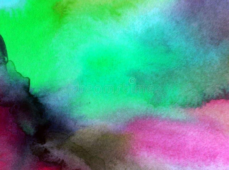 Akwareli sztuki tła abstrakta wieczór zamazany niebo ilustracji