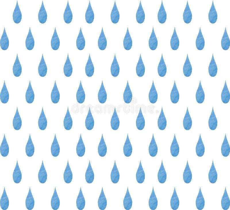 Akwareli tła raindrops Akwareli raindrop bezszwowy tło ilustracja wektor