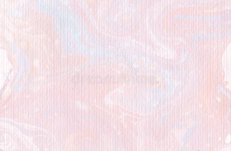 Akwareli tła tekstury miękkiej części menchie - abstrakcjonistyczny ranku światło ilustracji