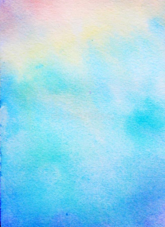 Akwareli tła turkusowego błękita purpury royalty ilustracja