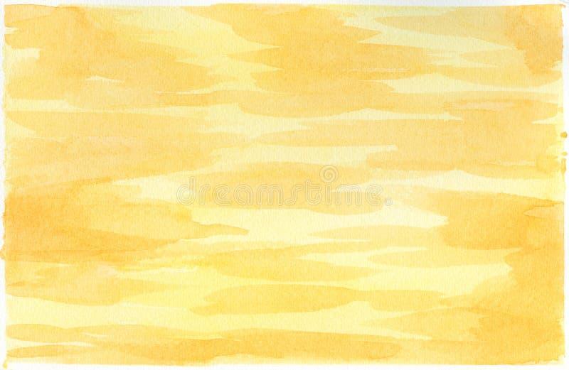 Akwareli tło dla tekstur akwarela abstrakcyjna tło yellow ilustracja wektor
