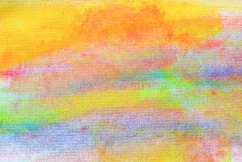 Akwareli tło kolorowy na papierowej teksturze Abstrakcjonistycznej sztuki ręki farba fotografia stock