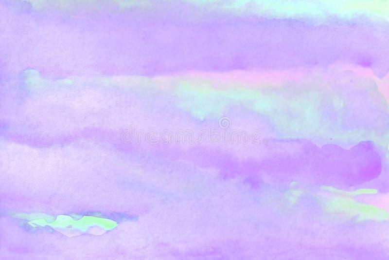 akwareli t?a ilustracja Akwareli delikatna chmura na niebie ilustracja wektor