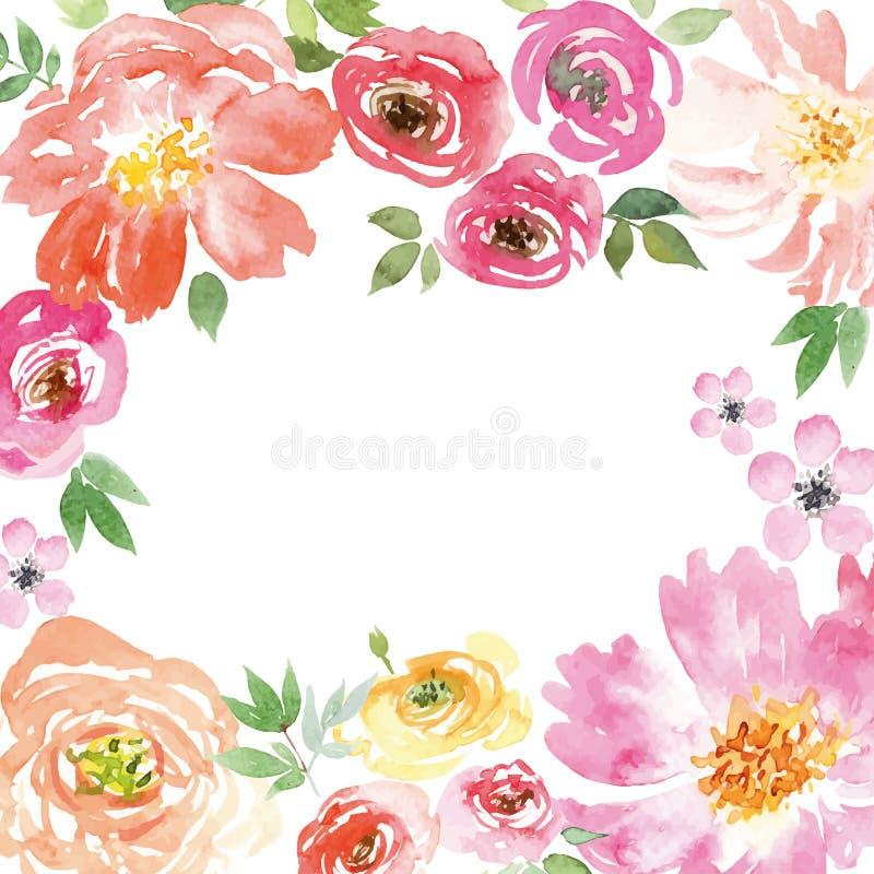 Akwareli wiosny kwiaty ilustracja wektor