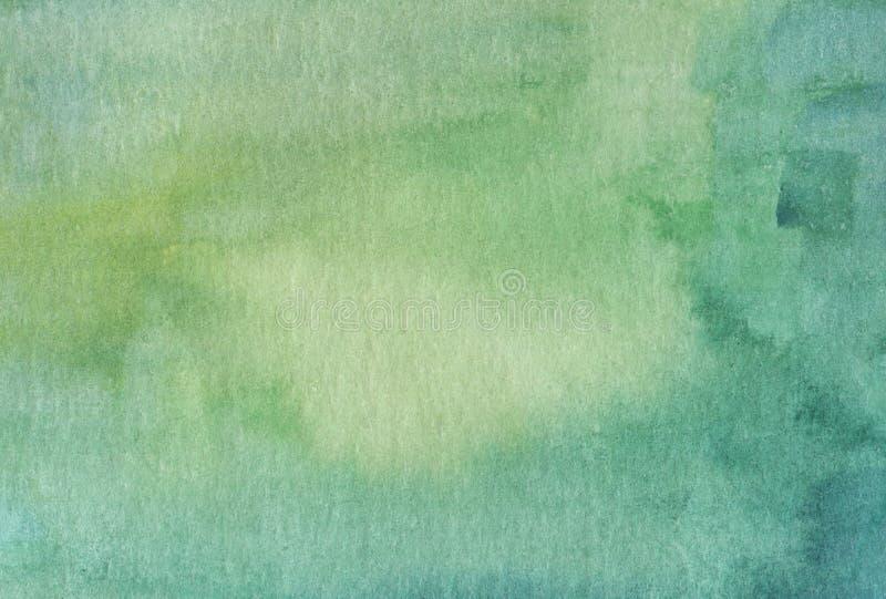 Akwareli zielony jaskrawy abstrakcjonistyczny tło ilustracji