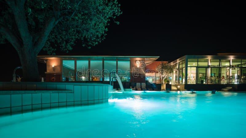 Akwaria są Termicznym zdroju centrum Terme Di Sirmione Unikalny obrazy stock