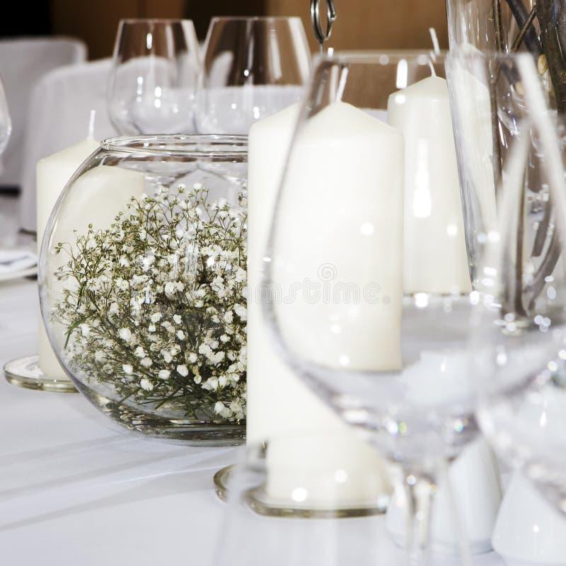 akwarium świeczki kwiat zdjęcie royalty free