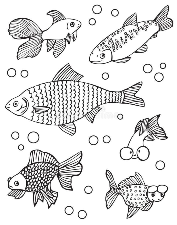 Akwarium inny i ryba ilustracji