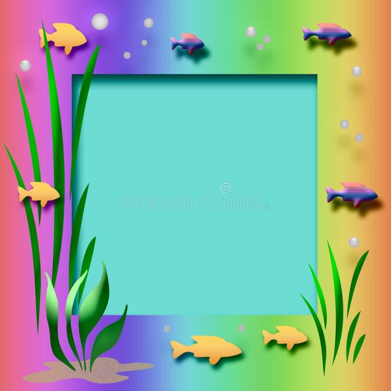 akwarium rama ilustracja wektor