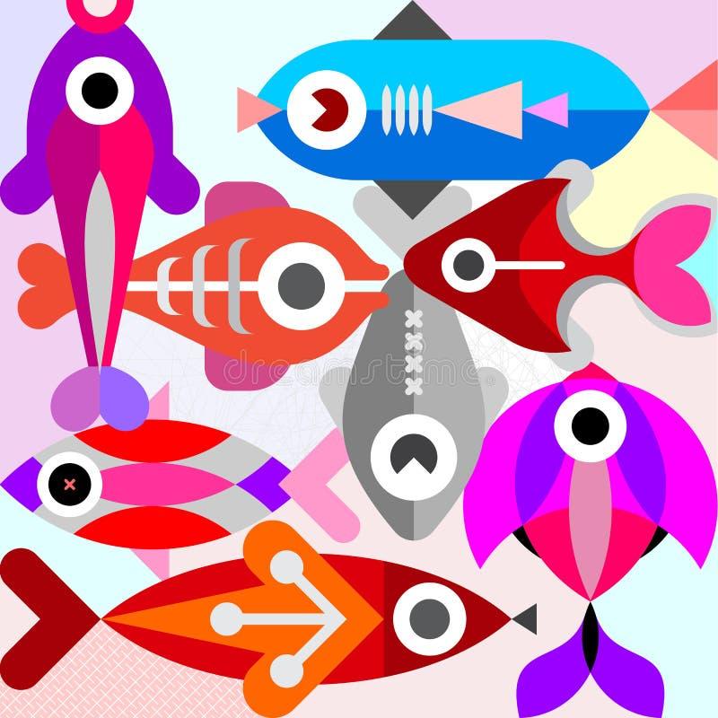 Akwarium rybia wektorowa ilustracja royalty ilustracja
