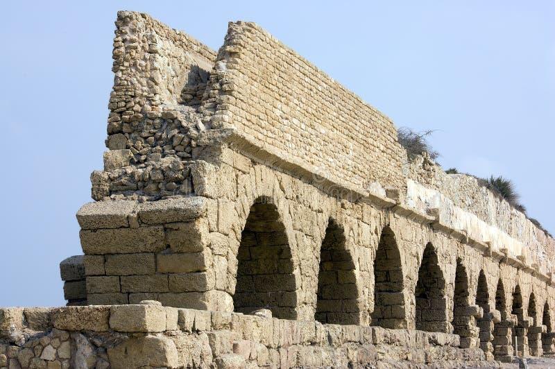 akwedukt romana starożytnym obraz stock
