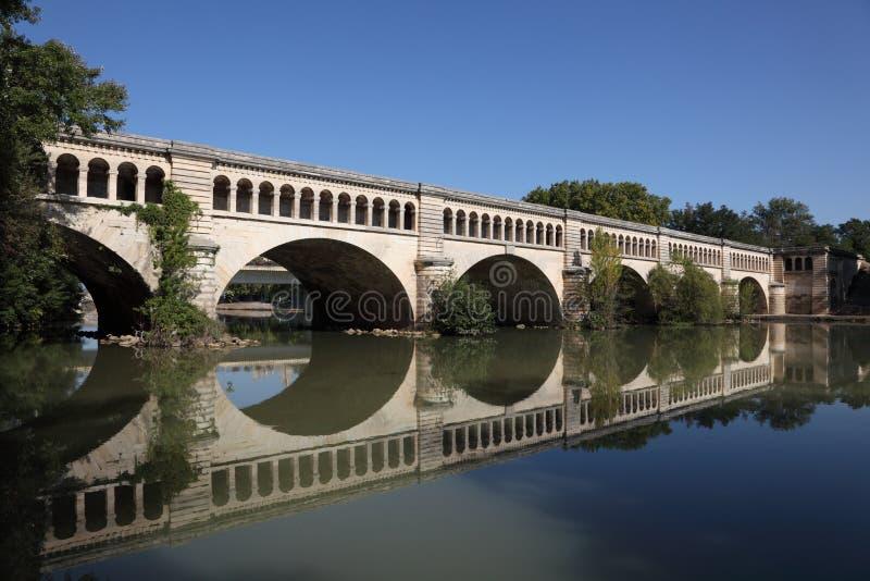 akweduktu Beziers kanał du Midi obraz royalty free
