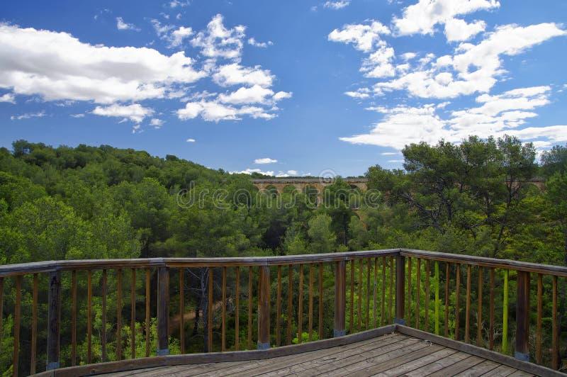 akweduktu del diable pont rzymski Tarragona zdjęcia stock