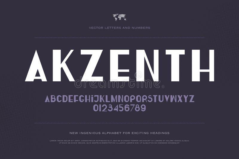 Akzenth stock illustrationer