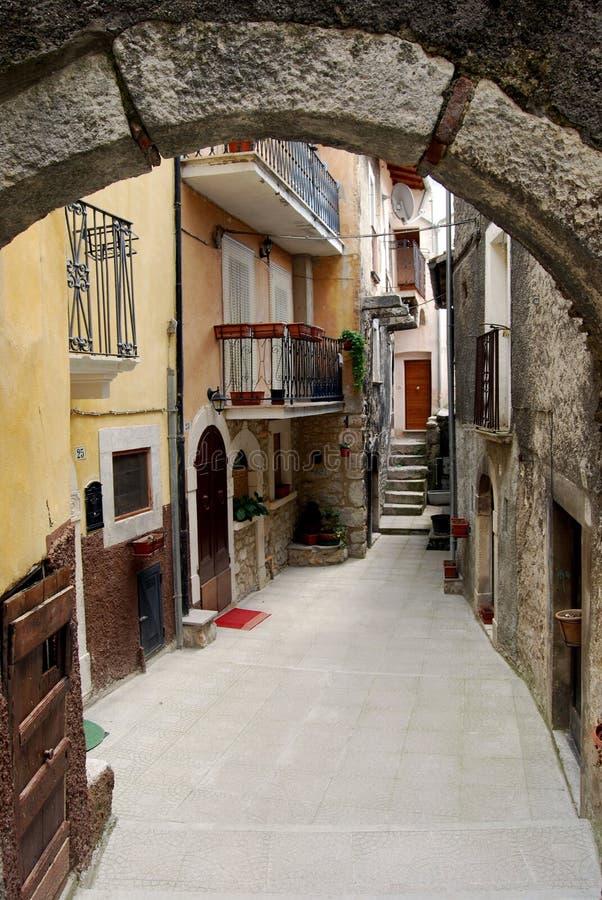 Aléia Assergi - Abruzzo - Italy imagens de stock