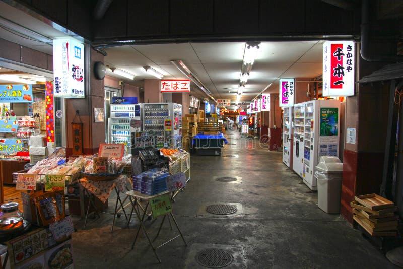 ALÉIA COM OS RESTAURANTES EM NUMAZU, JAPÃO fotos de stock