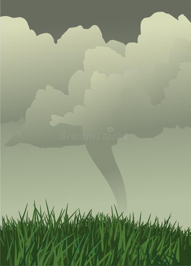 Aléia de furacão ilustração stock