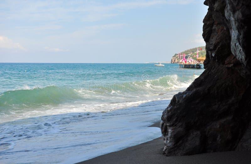 Alésage de marée La mer Méditerranée photos stock