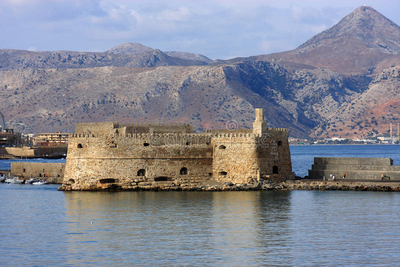 Al克利特堡垒希腊heraklion母马rocca 免版税库存图片