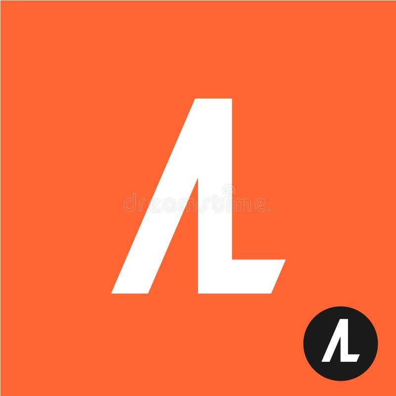 AL字母符号 A和L信件绷带 库存例证