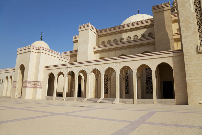 Al巴林fateh全部麦纳麦清真寺 免版税库存图片