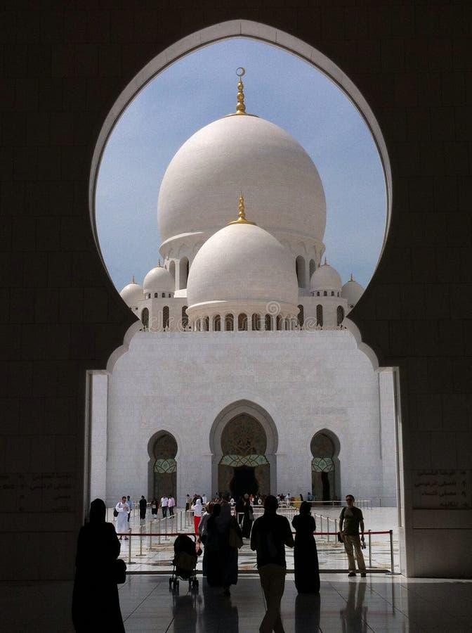 Al扎耶德Mosque回教族长 免版税库存照片