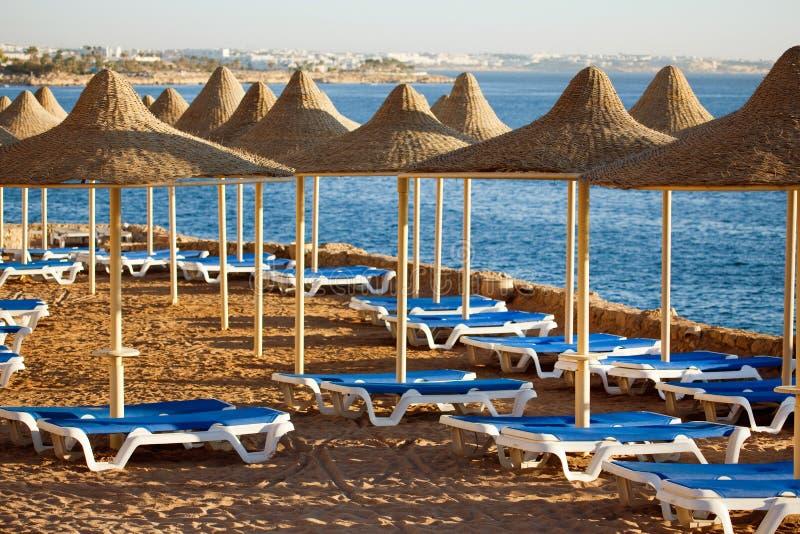 Al海滩sharm回教族长 免版税库存图片