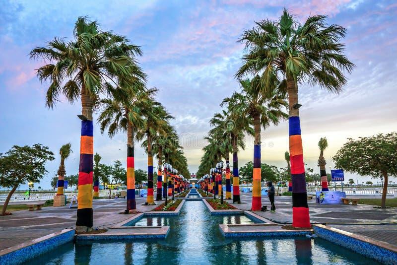 Al的胡拜尔沙特阿拉伯美丽的公园 库存图片