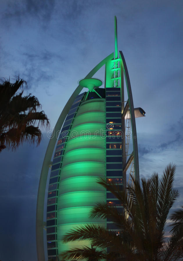 Al阿拉伯burj旅馆豪华七星形 免版税库存照片