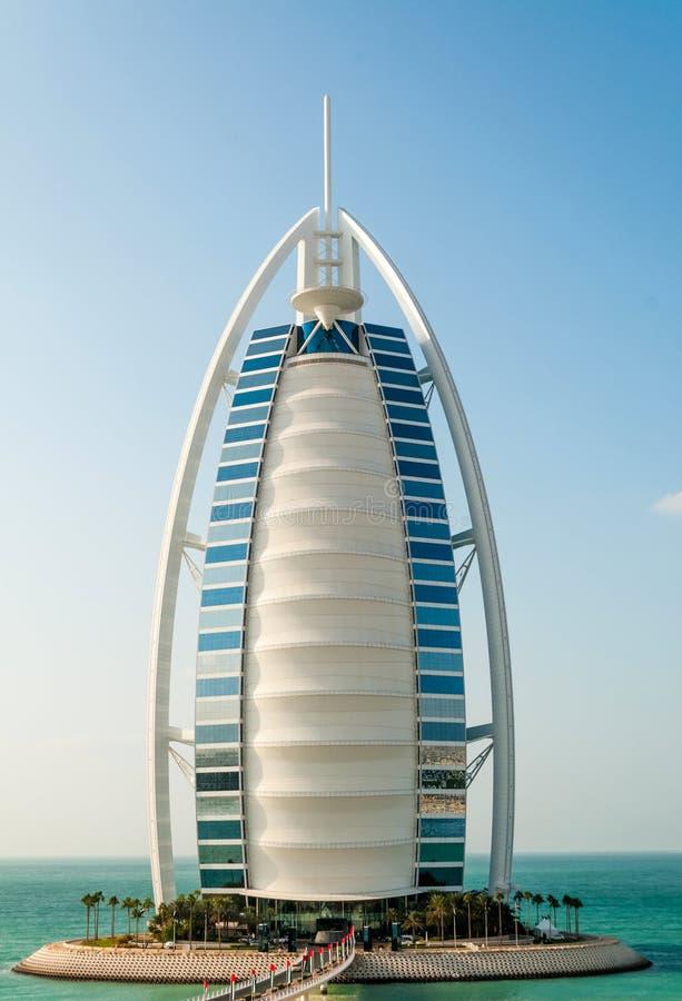 Al阿拉伯burj迪拜旅馆jumeira阿拉伯联合酋长国 库存图片