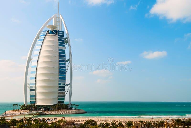 Al阿拉伯burj迪拜旅馆jumeira阿拉伯联合酋长国 图库摄影