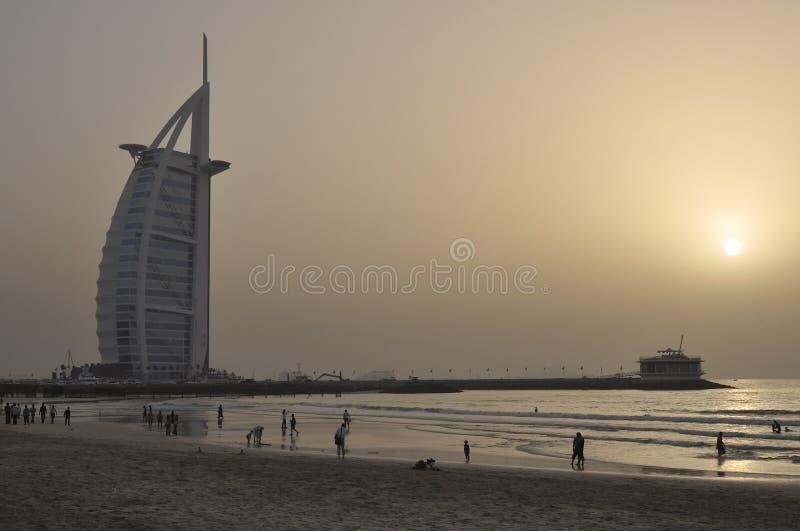 Al阿拉伯burj迪拜酋长管辖区旅馆团结了 图库摄影