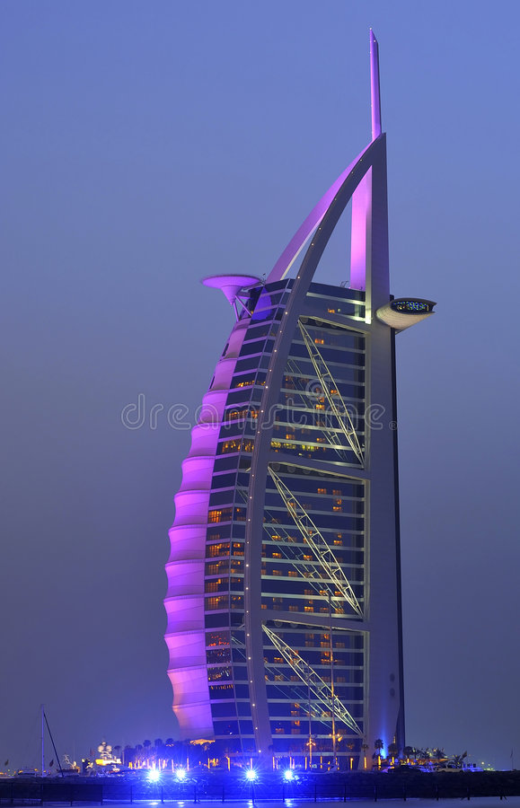 Al阿拉伯burj迪拜酋长管辖区旅馆团结了 库存照片