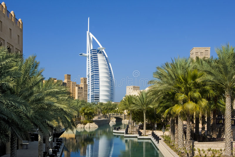 Al阿拉伯burj迪拜 免版税图库摄影