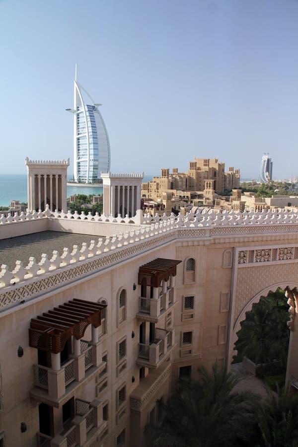 Al阿拉伯burj迪拜jumeirah madinat 免版税图库摄影