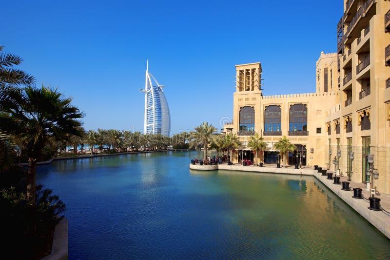 Al阿拉伯burj jumeirah madinat 免版税库存图片