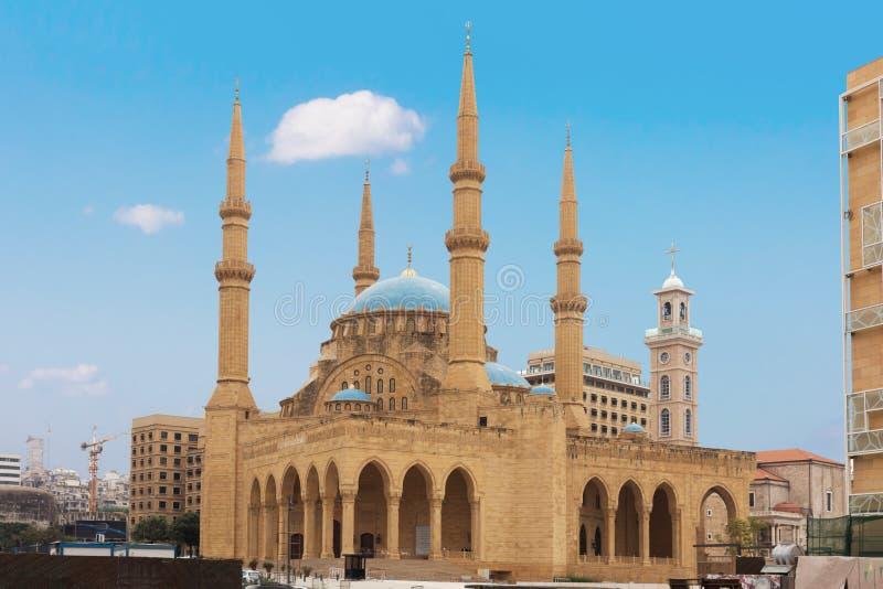 Al阿明・贝鲁特黎巴嫩mohammad清真寺 免版税库存照片