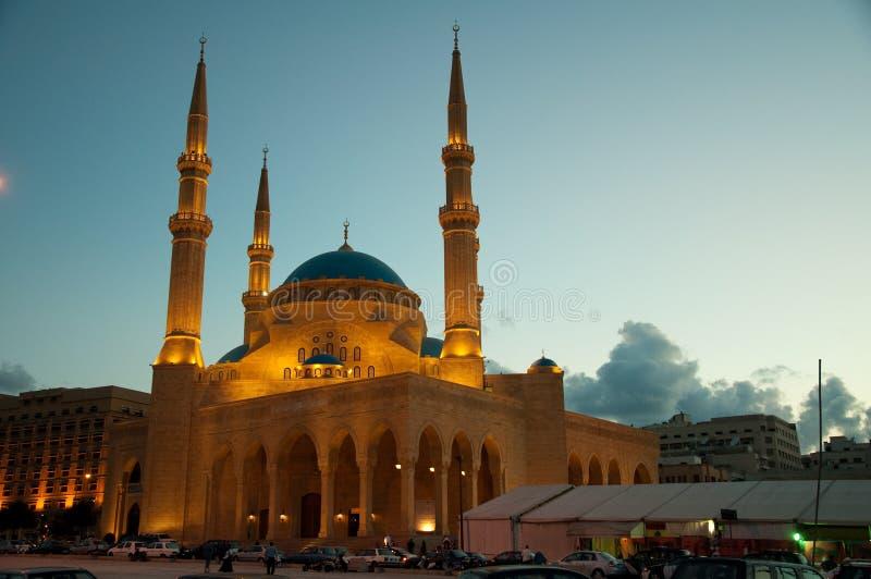 Al阿明・贝鲁特mohammad清真寺 免版税图库摄影