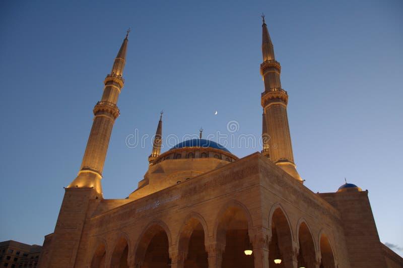 Al阿明・贝鲁特mohammad清真寺 库存图片