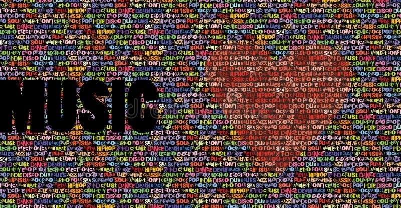 Al achtergrond van de muziekliefde stock illustratie