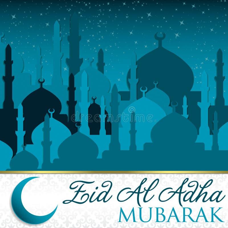 Al Adha Eid διανυσματική απεικόνιση